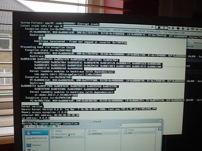 OS X Panic  My first OS X panic.