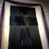 Sanctuary Lent darkened window drape