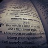 """""""Your word is a lamp to my feet...""""Psalm 119: 105"""