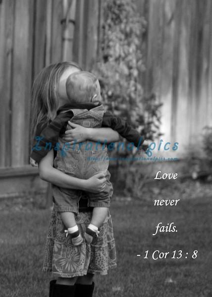 A sister's loving embrace