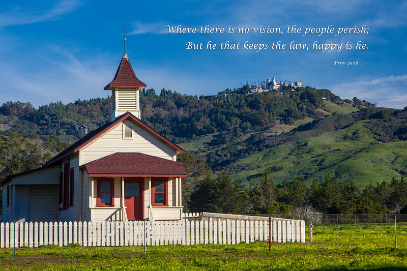 """San Simeon Schoolhouse and Hearst Castle"""