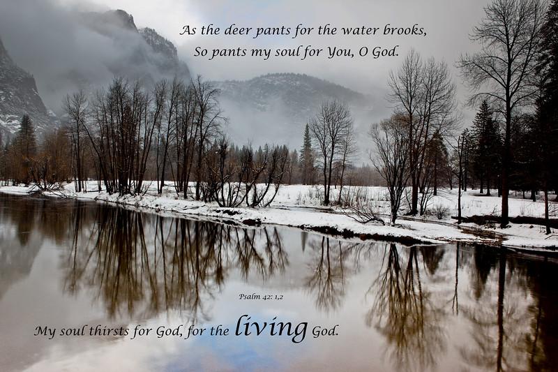"""Merced River in Winter"""