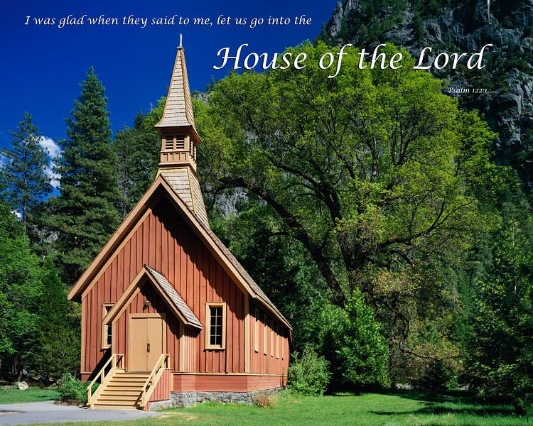 """Yosemite Chapel in Spring"""