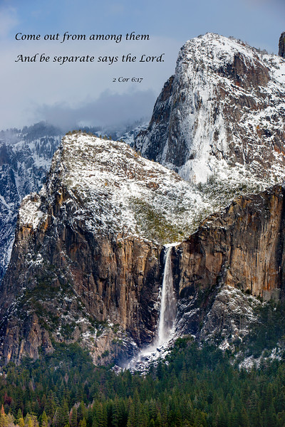 """""""Bridalveil Falls and Cathedral Spires"""""""