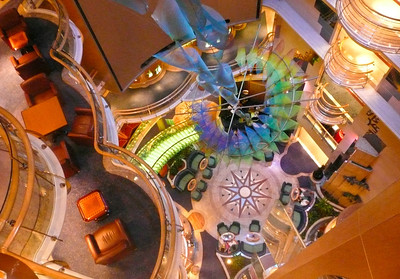 [Week 11: 12th-18th March] Looking down into the Attrium of the Serenade of the Seas
