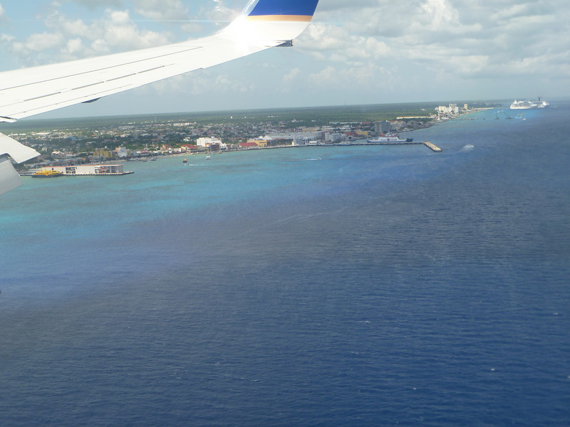 The island of Cozumel comes into view.