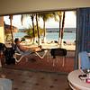 Oceanfront room opens onto patio & beach.