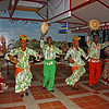 Cultural dancers in traditional Curacao costumes.