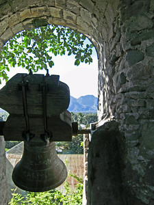 The ancient bells, still in place in the bell tower.