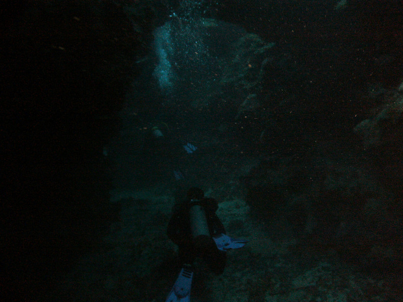 Mary's Place dive site, swim through arch. A little dark, but you get the idea.