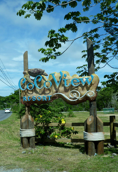 We arrive at Coco View Resort.
