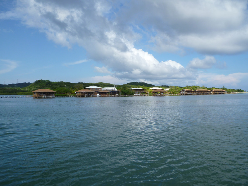Coco View resort from the dive boat.