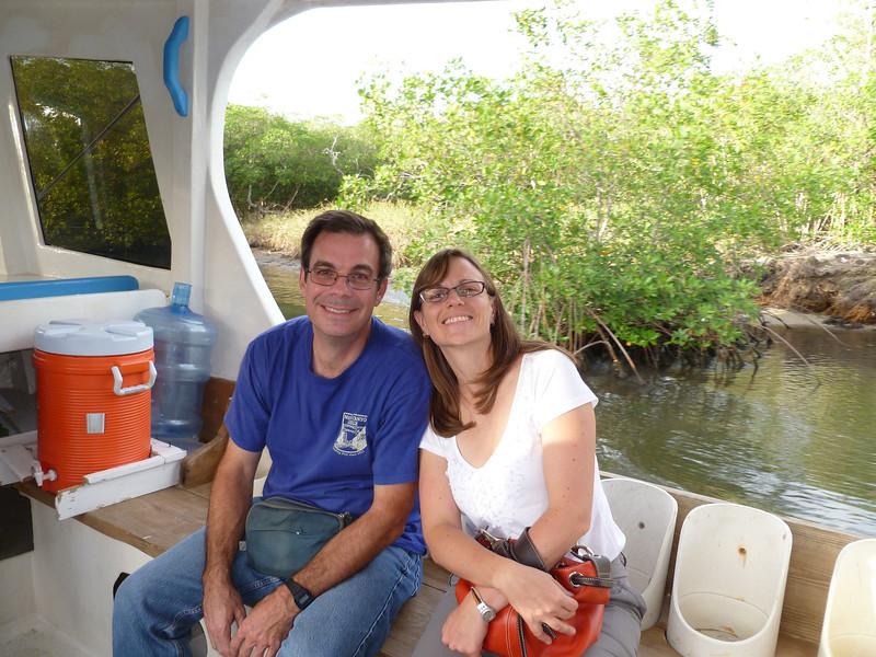 Pat and Nat enjoy the ride.
