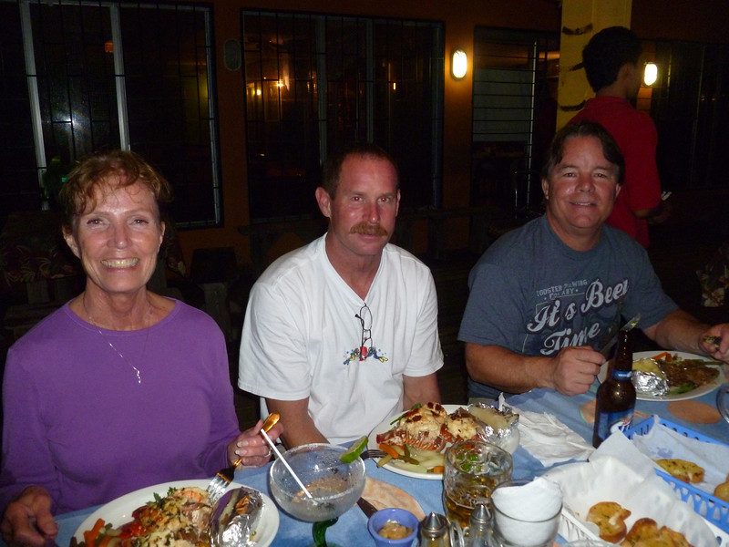 Happy diners - Carroll, Brian and Craig.