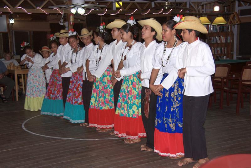 A Honduran dance group entertains us after dinner.