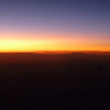 Sunrise over Texas from 35,000 feet.