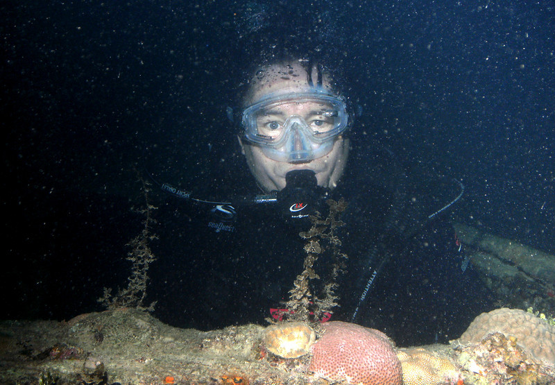 Craig in the hatch of the Prince Albert wreck.