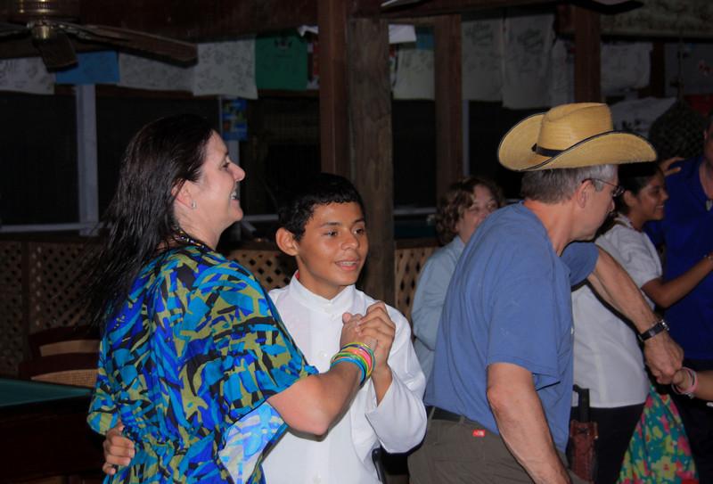 I dance with Alejandro.