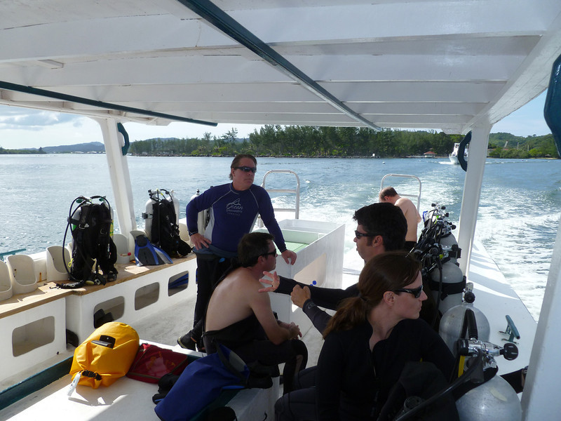 On the way to the dive site.
