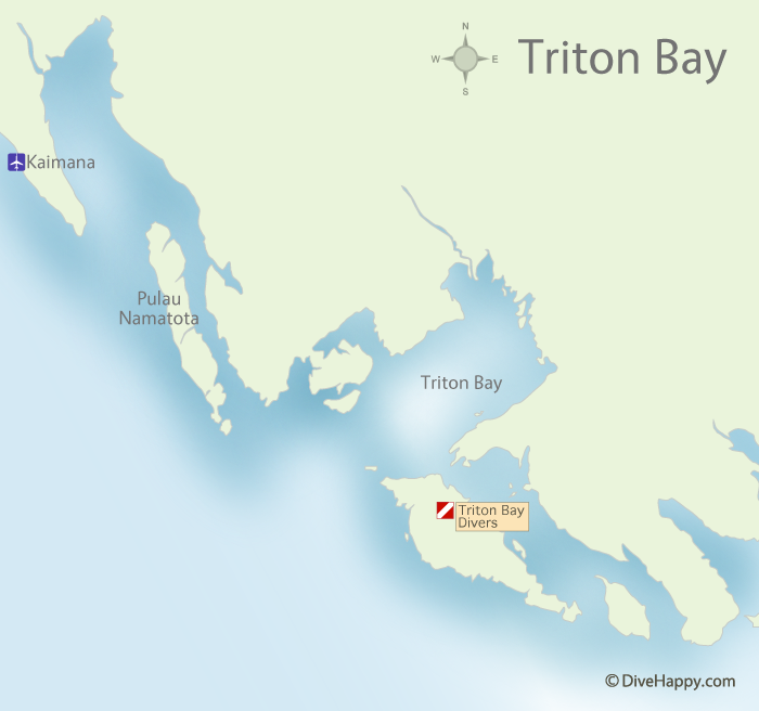 Triton Bay Indonesia Map