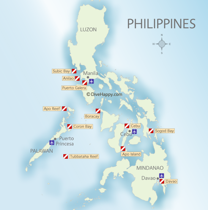 Scuba Diving Philippines Map