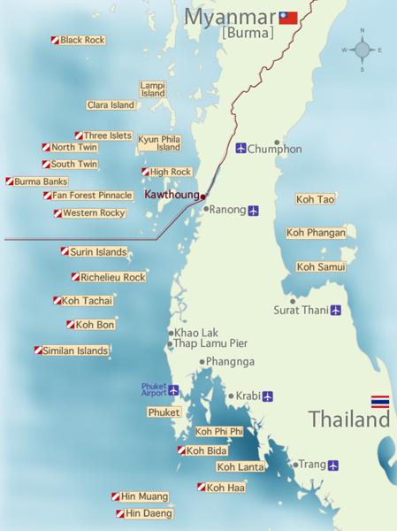 Scuba Diving Maps