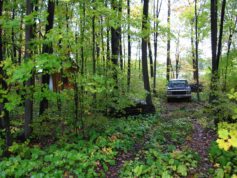 Retrieving the Bronco from the Shack....my little project in the woods:)