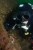 Nayan checking out a large Hermissenda crassicornis nudibranch.