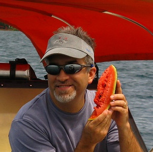 After a great dive in Yap what can be better than ice cold watermelon on a hot day?