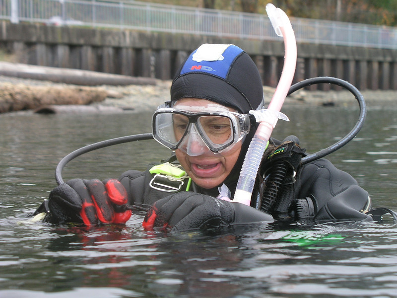 Rhoda Green. Excellent diver and dive buddy.