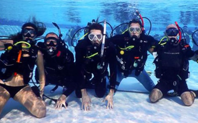 Pool Training with Scuba Students