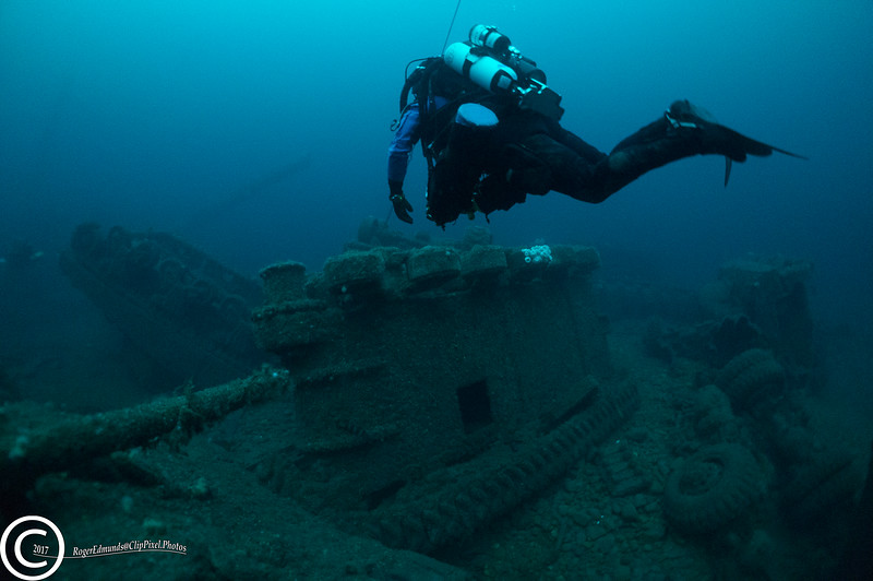 Tanks from the SS Empire Heritage off Malin Head