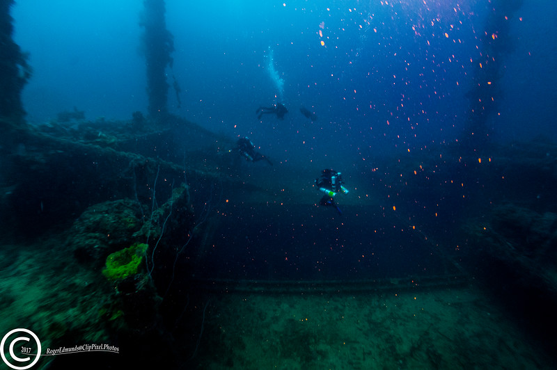 One of the holds of the Aikoku Maru in Chuuk Lagoon