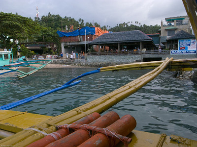 The dock at Sabang - at least the tide was in enough so we didn't need a lighter boat!