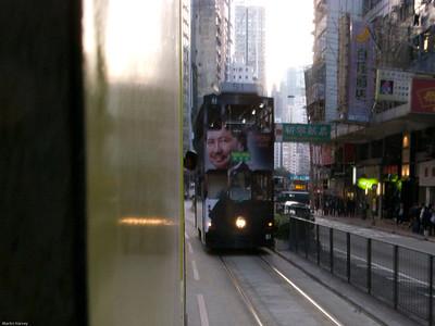 When trams pass ...