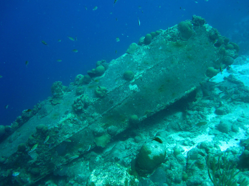 La Machaca, a sunken fishing boat