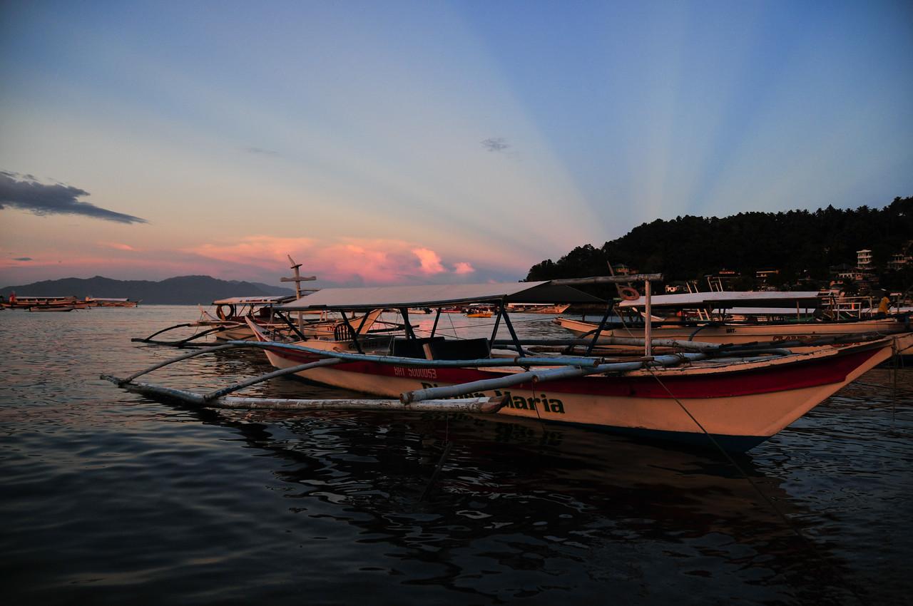 Sunset over Sabang Bay