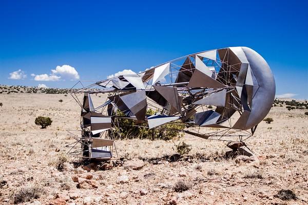 Fabricated-bike-frame-inside-geometric-steel-structure
