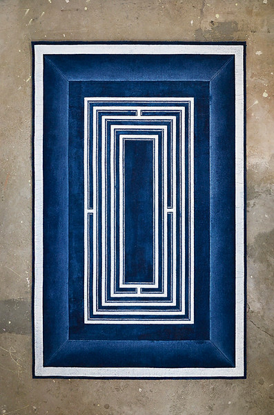 Maze II_Mixed media on engraved carpet_48x72 inches_2015
