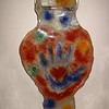 "<h2>Hanging Hearts</h2>cast glass 20"" x 13"" x 2"" June, 2003 This is a another sculpture in the ""Heart in Hand"" series. A compassionate message captured in glass"