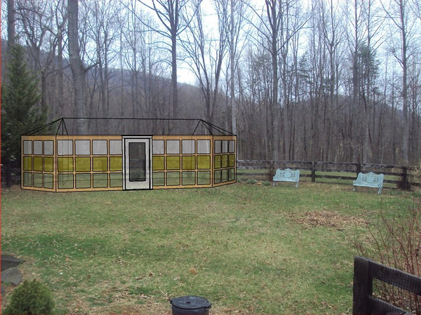 Greenhouse concept using window panels made with recycled container glass