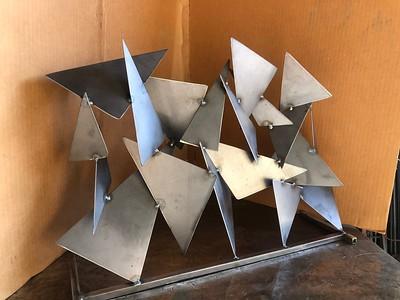 Steel Fireplace Sculpture - SAMPLE