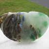 "<h2>Earthen Sublimation </h2>recycled glass 14"" x 7"" x 1"" June, 2008"
