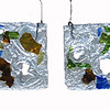 "<h2>Aperturi Oecologici </h2>hanging panels recycled glass each panel 11"" x 4"" x ½"" September, 2007"