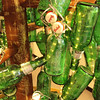 Grolsch Glass Bottle Conifer Topiary<br /> -detail