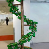 "Grolsch Glass Bottle Spiral Topiary<br /> -detail<br />  for a video of this installation being built go to:<br />  <a href=""http://www.youtube.com/watch?v=-4eht74NizY"">http://www.youtube.com/watch?v=-4eht74NizY</a>"