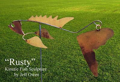 """Rusty"" - Kinetic Fish Sculpture"