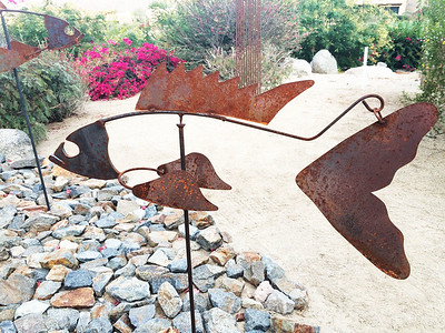 """Rusty"" - Kinetic Fish Mobile"