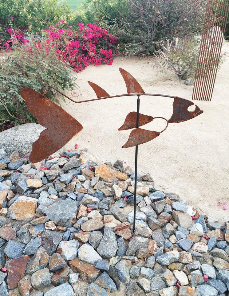 """Skippy"" - Kinetic Fish Sculpture"