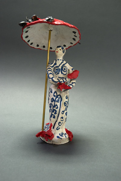 Figure with Red Umbrella --  Alternate View